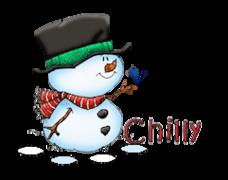 Chilly - Snowman&Bird