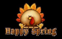 Happy Spring - ThanksgivingCuteTurkey