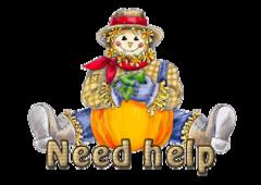 Need help - AutumnScarecrowSitting