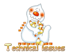 Technical issues - CandyCornGhost