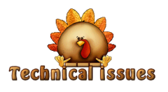 Technical issues - ThanksgivingCuteTurkey