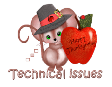 Technical issues - ThanksgivingMouse
