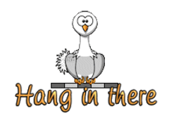 Hang in there - OstrichWithBlinkie