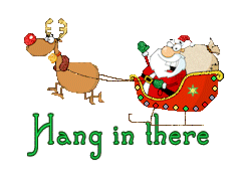 Hang in there - SantaSleigh