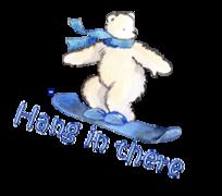 Hang in there - SnowboardingPolarBear