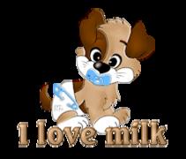 I love milk - BabyPup