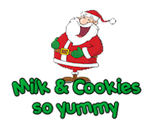 Milk&Cookies so yummy - Santa Belly Laugh