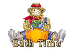 Bath Time - AutumnScarecrowSitting