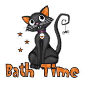 Bath Time - HalloweenKittySitting