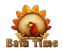 Bath Time - ThanksgivingCuteTurkey