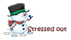 Stressed out - Snowman&Bird