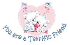 You are a Terrific Friend - ValentineBearsCouple2016