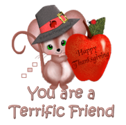 You are a Terrific Friend - ThanksgivingMouse