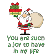 You are such a joy to have in my life - SantaDeliveringGifts