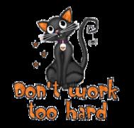 Don't work too hard - HalloweenKittySitting