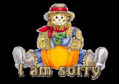I am sorry - AutumnScarecrowSitting