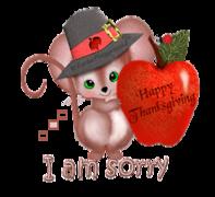 I am sorry - ThanksgivingMouse