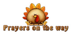 Prayers on the way - ThanksgivingCuteTurkey