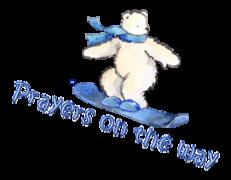 Prayers on the way - SnowboardingPolarBear