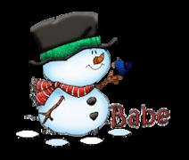 Babe - Snowman&Bird