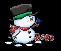Bega - Snowman&Bird