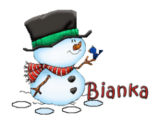 Bianka - Snowman&Bird