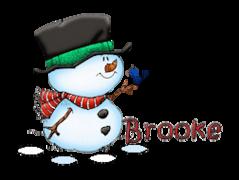Brooke - Snowman&Bird