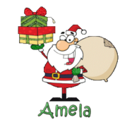 Amela - SantaDeliveringGifts
