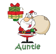 Auntie - SantaDeliveringGifts