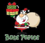 Boas Festas - SantaDeliveringGifts