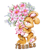 Thanks - BunnyWithFlowers