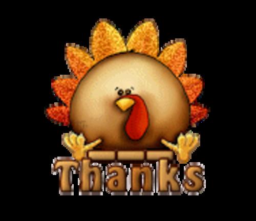 Thanks - ThanksgivingCuteTurkey