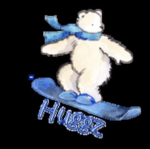 Huggz - SnowboardingPolarBear