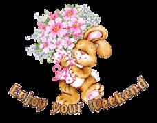 Enjoy your WE - BunnyWithFlowers