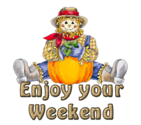 Enjoy your WE - AutumnScarecrowSitting