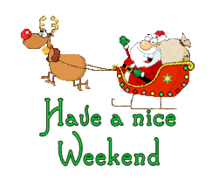 Have a nice WE - SantaSleigh