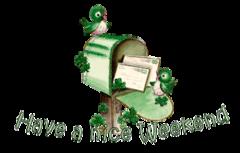 Have a nice WE - StPatrickMailbox16