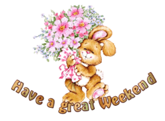 Have a great WE - BunnyWithFlowers