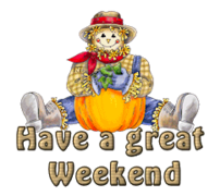 Have a great WE - AutumnScarecrowSitting