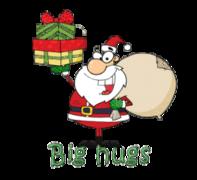 Big hugs - SantaDeliveringGifts