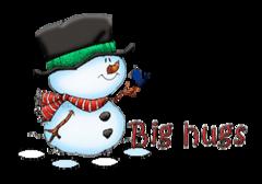Big hugs - Snowman&Bird