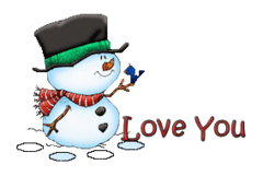 Love You - Snowman&Bird