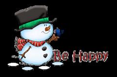 Be Happy - Snowman&Bird
