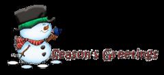 Season's Greetings - Snowman&Bird