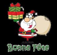Bonne Fete - SantaDeliveringGifts