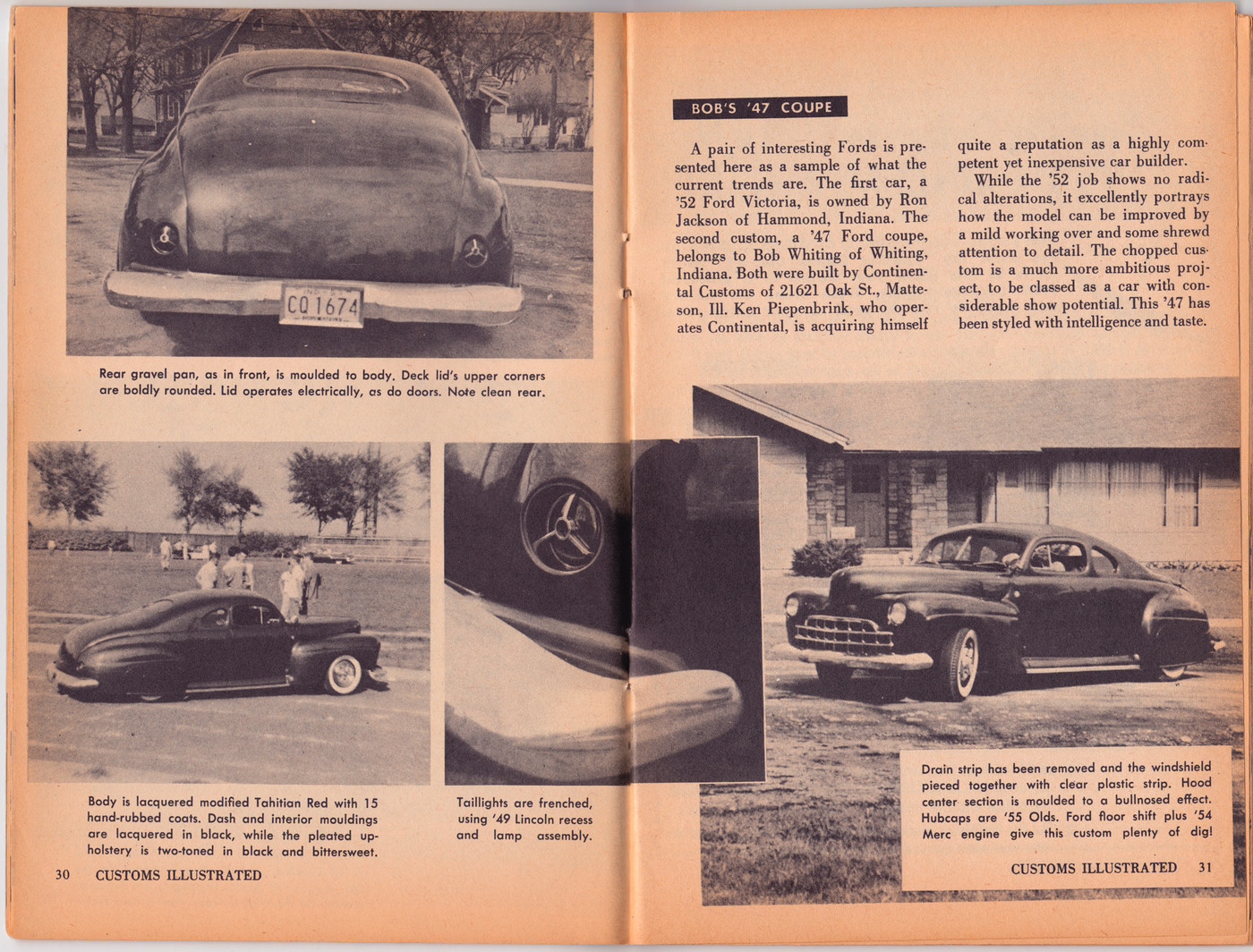 Photo 41fordbobmarionarticle02 1941 Ford Coupe Bob Marion Red