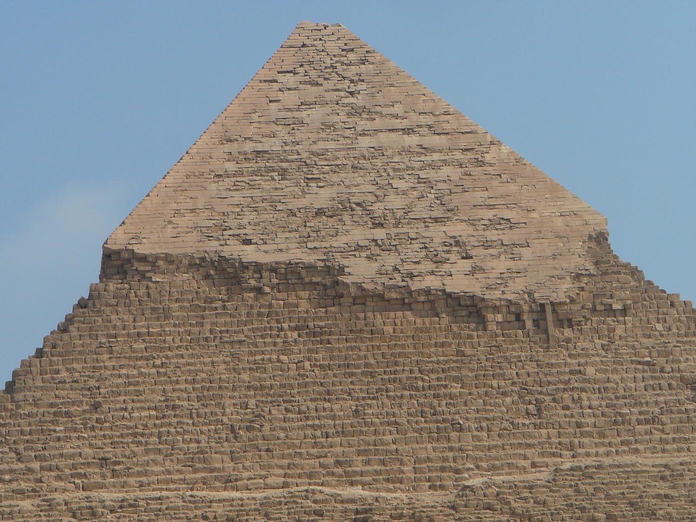 Top of Khafre Pyramid Giza