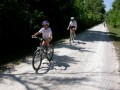 Katie & Mary cruise on the KATY Trail