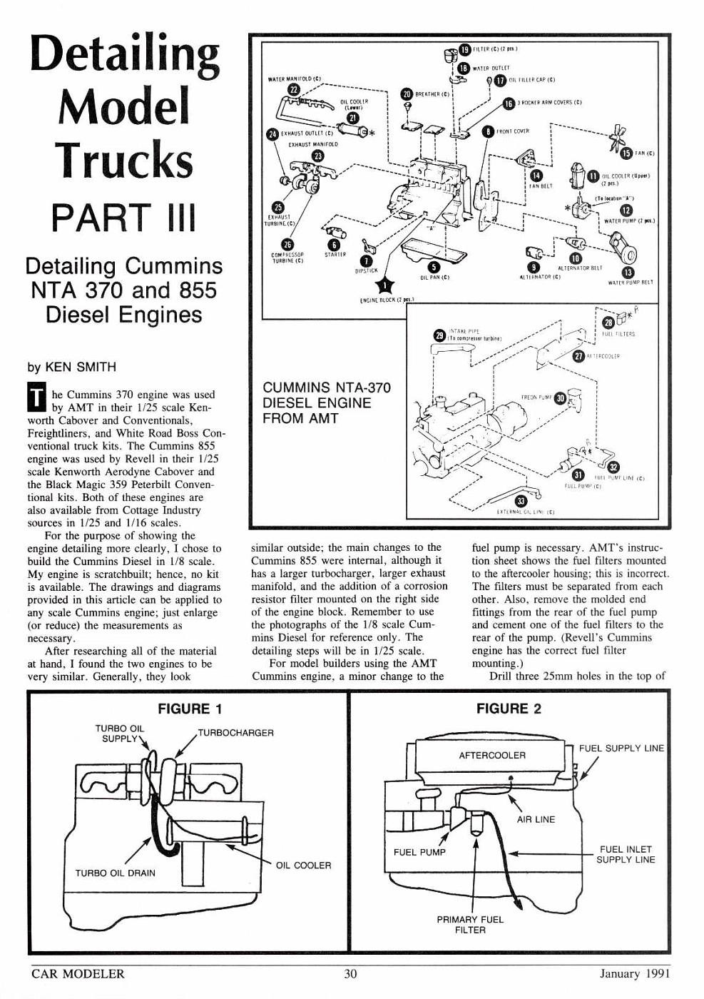 CarModeler 05 Jan-1991 p30 Detailing Model Trucks