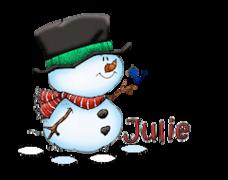 Julie - Snowman&Bird